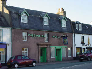 The front of our 300 year old inn, the Caley